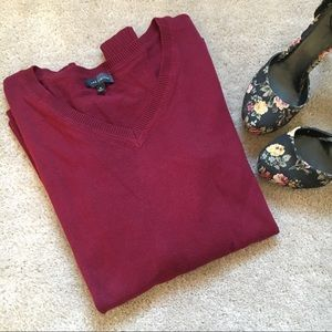 The Limited Burgundy Sweater