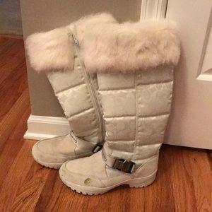 COACH fur top winter boots!