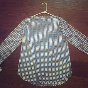 Gap blue/white blouse