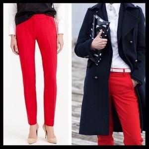 j. crew // red maddie pants in bi-stretch wool