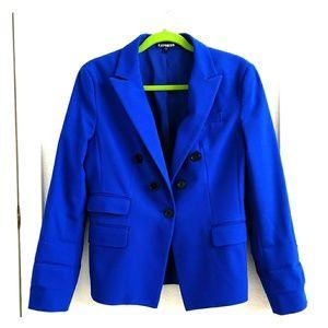 EXPRESS One Button Blazer in Royal Blue