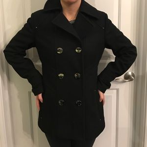 Kenneth Cole black pea coat. Size 2