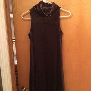 velvet cowl neck dress