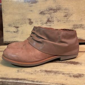 Emu leather booties