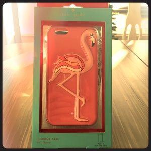 Kate Spade Pink Flamingo iPhone 6 Silicone Case