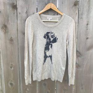 Super Cute Hipster Bulldog Crewneck Sweater