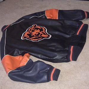 Leather Chicago Bears liscenced NFL jacket L XL