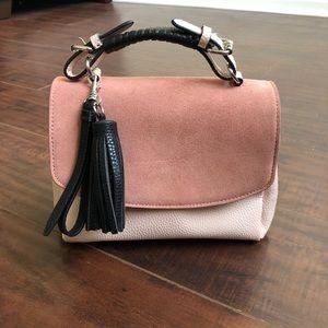 Zara Suede & Leather Crossbody