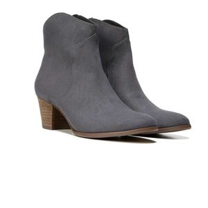 Gray Western Ankle Bootie
