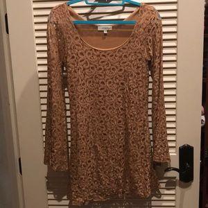 Bodycon crochet mini dress