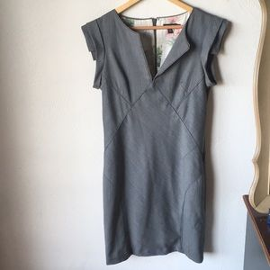 Ted baker gray pencil dress