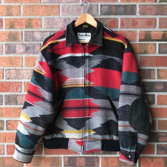 995f5f58d VTG🌵pioneer wear western bomber jacket