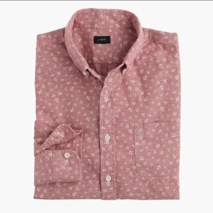 J Crew Men's Chambray shirt in anchor print, S