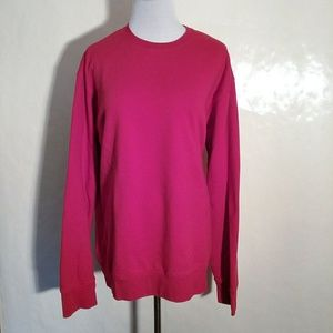 Lands' End Holiday Red Sweatshirt Runs Very Large