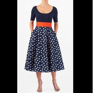 New Eshakti Polka Dot Fit & Flare Dress XL 18