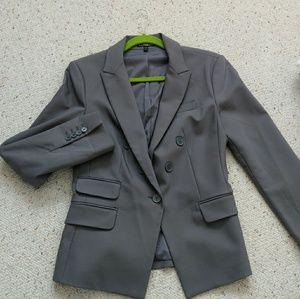 Express One Button Blazer in Grey