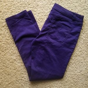 Size 14 INC Purple Skinny Pants