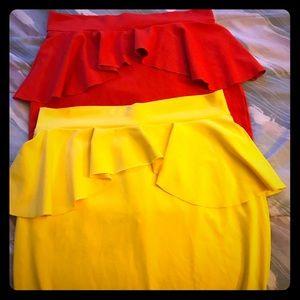 Bebe Skirt Bundle!!! Size Medium!!!