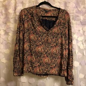 Lucky Brand Sz Large Long Sleeve Top