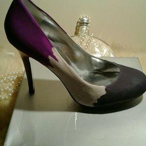 Tie-dye purple heels
