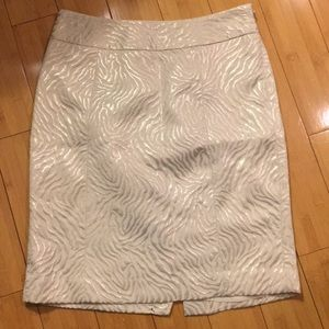 LOFT - Cream Skirt