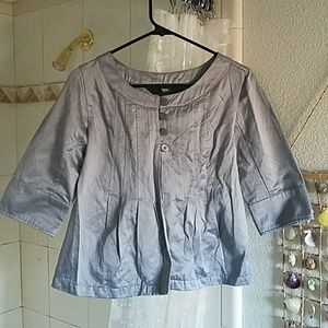 Mossimo Shimmery Silver Jacket