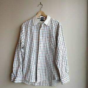 Tommy Hilfiger plaid trim fit button down shirt