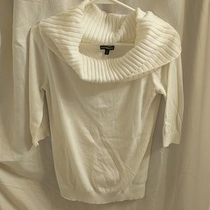 Cream cowl neck Express sweater