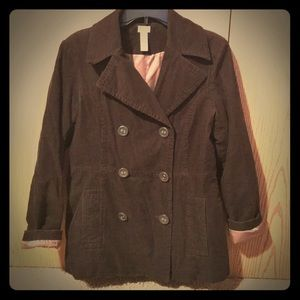 Bass brown cotton peacoat!
