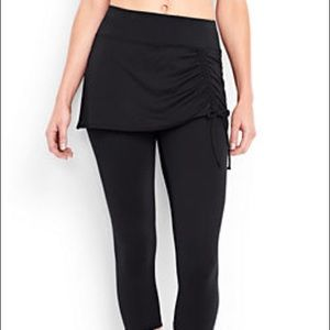 Lands End Black Swim Capris