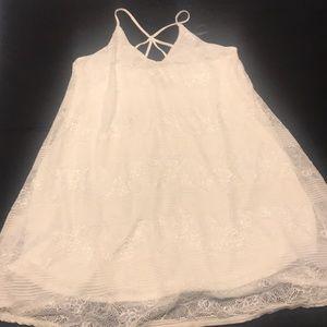 Cream Colored Mini Dress