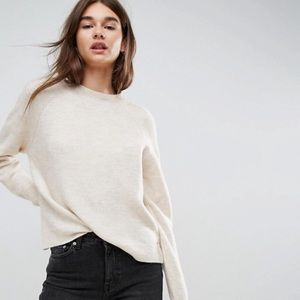 ASOS Sweater in Fluffy Yarn with Crewneck - NEW