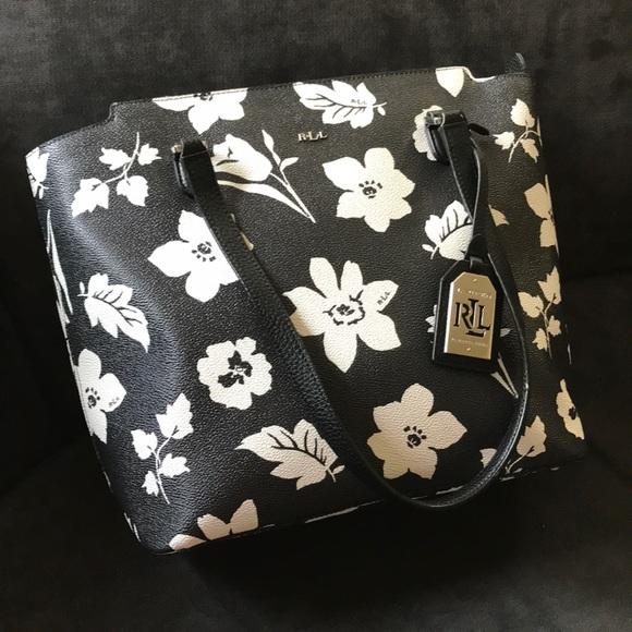 NWOT Ralph Lauren Floral Tote 6aca883c6cc60