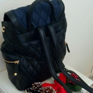 cc703f8f25 Vera Bradley Bags - Quilted leather denim Amy backpack Vera Bradley