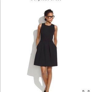 Madewell Boxpleat Little Black Dress