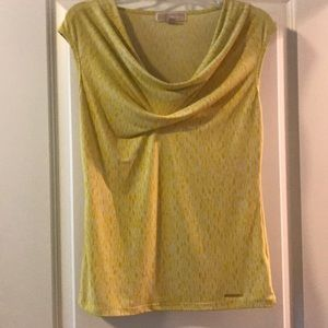 Yellow/white patterned Michael Kors top