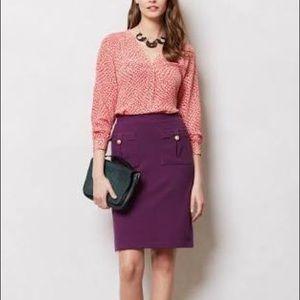 Anthro Vanessa Virginia Bonny pencil skirt