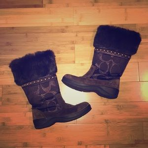 Coach Lesley Boots With Fur