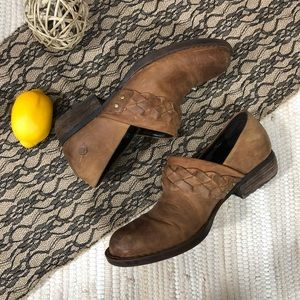 Born Western Style Distressed Clogs