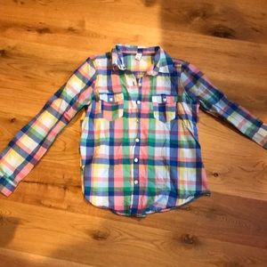 Old Navy spring plaid button up