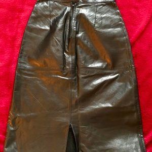 Skirts - Leather skirt