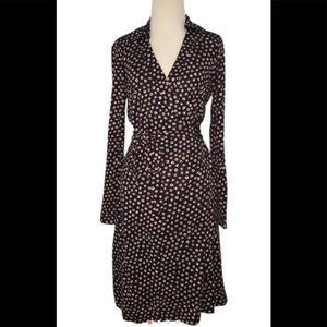 Diane von Furstenberg Polka Dot Wrap Dress