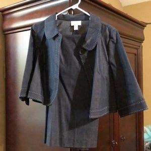 Blue jean suit