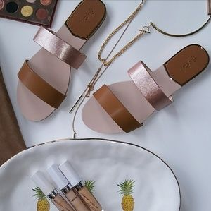 🆕//The Britt// Camel double strap Sandal