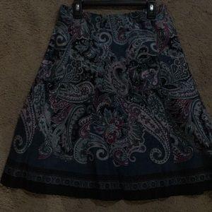 Ann Taylor Paisley print EUC skirt