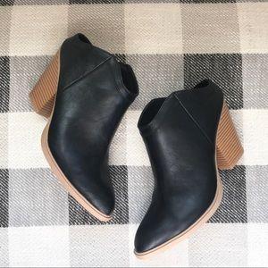 Dolce Vita • Black Open Heel/Clog Booties