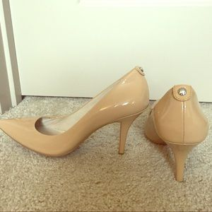 Nude Patent Flex Pointed Court Shoes