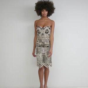 ASOS Lipsy Deco Bandeau Midi Dress