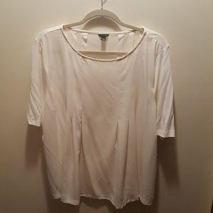 Ann Taylor winter white blouse