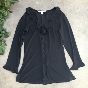 Victoria secret sheer blouse
